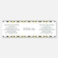 John 3:16 Bible Verse Bumper Bumper Bumper Sticker
