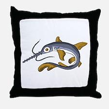 Saw Fish Throw Pillow