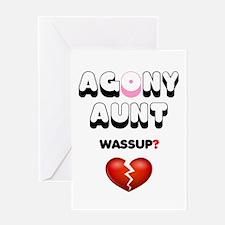 AGONY AUNT - WASSUP - BROKEN HEART! - Greeting Car