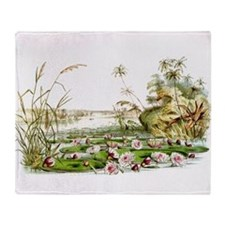 Waterlilies & Lilypads Throw Blanket
