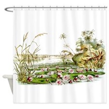 Waterlilies & Lilypads Shower Curtain
