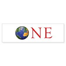 ONE Bumper Sticker