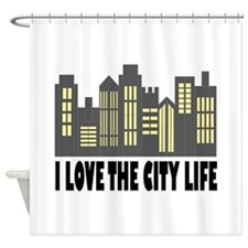 Love The City Shower Curtain
