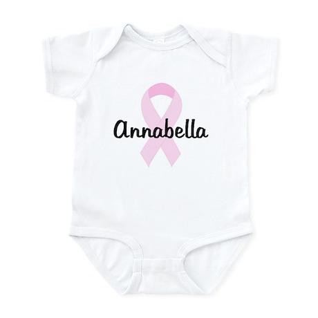 Annabella pink ribbon Infant Bodysuit