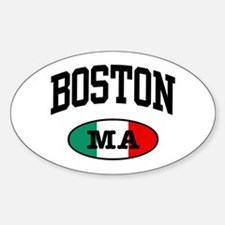 Boston Italian Oval Decal