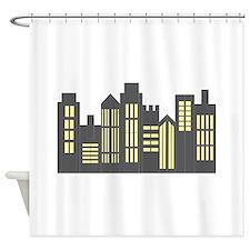 Night Skyline Shower Curtain
