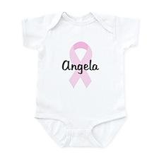 Angela pink ribbon Infant Bodysuit