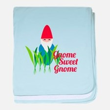 Gnome Sweet Gnome baby blanket
