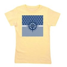 Nautical Blue Anchor Girl's Tee