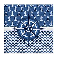 Cute Compass Tile Coaster