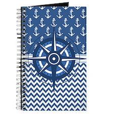 Cute Nautical sailing compass rose Journal