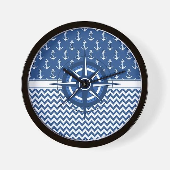 Cute Ship nautical compass Wall Clock