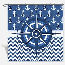 Unique Nautical sailing compass rose Shower Curtain
