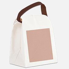 Pink Green Small Polka Dots Canvas Lunch Bag