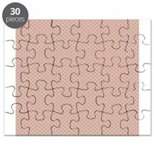 Pink Green Small Polka Dots Puzzle