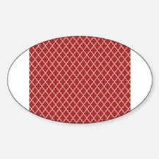 Red Ivory Quatre Foil Pattern Decal