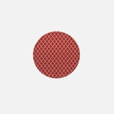 Red Ivory Quatre Foil Pattern Mini Button