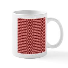 Red Ivory Quatre Foil Pattern Mugs