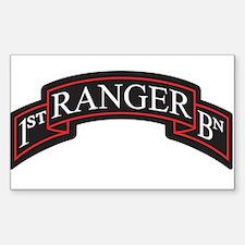 1st Ranger BN Scroll Decal