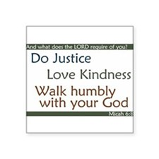 Micah 6:8 Quote Sticker