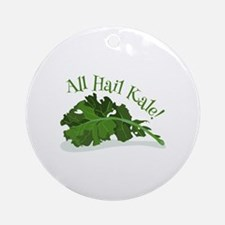 Hail Kale Ornament (Round)