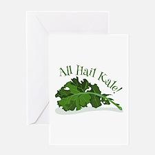 Hail Kale Greeting Cards