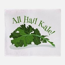 Hail Kale Throw Blanket