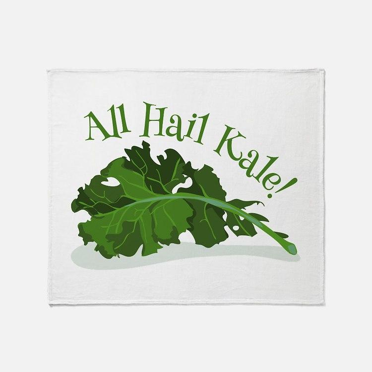 Hail Kale Throw Blanket