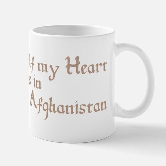 Half my Heart is in Afghanistan Mug