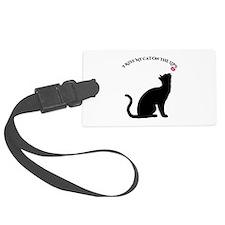 I Kiss My Cat Luggage Tag