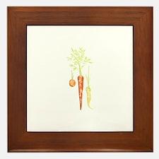 Carrots Veggies Framed Tile