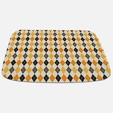 Halloween Argyle Pattern Bathmat