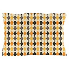 Halloween Argyle Pattern Pillow Case