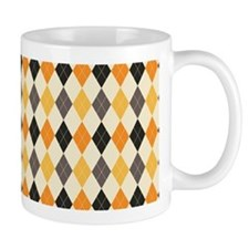 Halloween Argyle Pattern Mugs