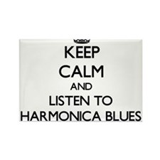 Keep calm and listen to HARMONICA BLUES Magnets