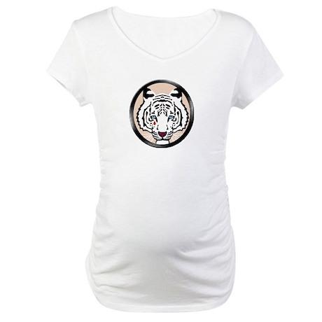 White Tiger Maternity T-Shirt