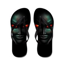 Zombie Ghost Halloween Face Flip Flops