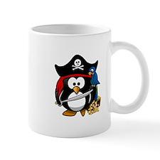 Cute Pirate Captain Penguin Mugs