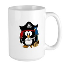 Cute Pirate Captain Penguin Mugs