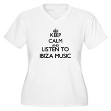 Keep calm and listen to IBIZA MUSIC Plus Size T-Sh