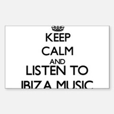 Keep calm and listen to IBIZA MUSIC Decal