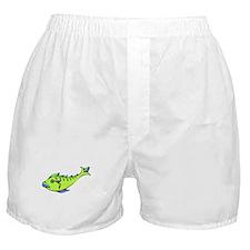 Green Fish Boxer Shorts