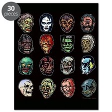 16 Movie Monster Masks horror (color) Puzzle