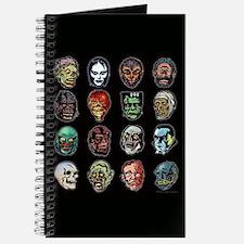 Horror Movie Monsters Masks Journal