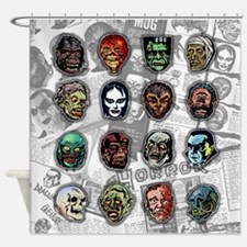 Horror Movie Monsters Masks Shower Curtain
