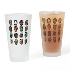 Horror Movie Monsters Masks Drinking Glass