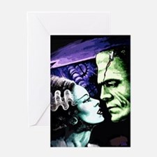 Bride And Frankenstein Greeting Card