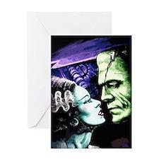 Monsters in Love Bride & Frankie Greeting Card