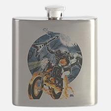 Headless Horseman ghost biker Flask
