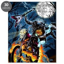 Headless Horseman ghost biker Puzzle